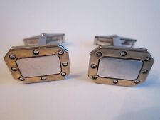 STERLING SILVER CUFF LINKS - SIGNED D B - 14 GRAMS - MARKED STERLING