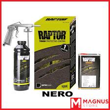 U-Pol Raptor Kit Vernice Protettiva bedliner 1L+ Pistola GUN UPOL - NERO