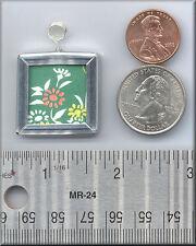 CLOSE2 YOUR ART Glass Pendant Japanese Washi Paper Green Art Pendant