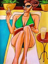 EVA GREEN PRINT poster sexy bathing suit casino royale sin city 2 white bird