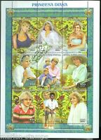 CENTRAL AFRICA  PRINCESS DIANA SHEET OF NINE STAMPS  MINT NH