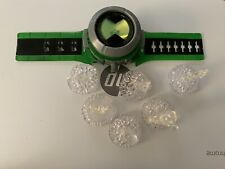 Ben 10 Ultimate Omnitrix With 6 Crystal Aliens. Sounds and Lights Works Great