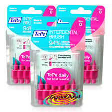 3x TePe 0.40 mm Rosa INTERDENTAL BRUSH SIZE 0 facile da pulire tra i denti confezione da 6