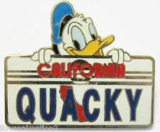Disney Dlr California License Plate Series Donald Quacky Pin