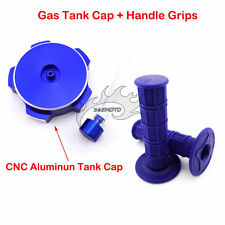 Throttle Handle Grips Blue Gas Tank Cap Cover Chinese Trail Pit Dirt Motor Bike