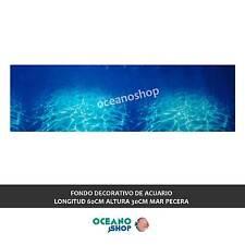 FONDO DECORATIVO de ACUARIO  longitud 60cm altura 30cm mar pecera D448