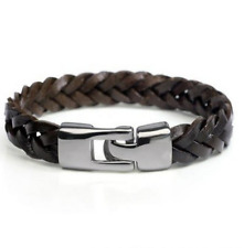 Vintage Fashion Men Leather Hand-woven leather rope brown bracelet AAA