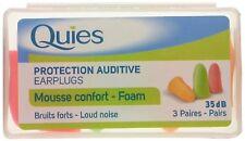 Quies Soft FOAM Ear Plugs - Pack of 3