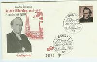 BRD FDC Ersttagsbrief 1966 Nathan Söderblom Mi.Nr.504