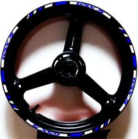 REFLECTIVE WHITE BLUE GP RIM STRIPES WHEEL DECALS TAPE STICKERS GSX-S 750 1000