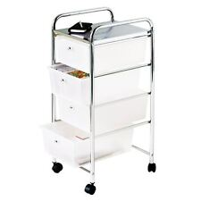 Premier Housewares 4 Drawer Storage Trolley With Chrome Frame 79 X 39 X 33 Cm