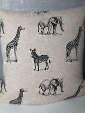 "16""/18"" Square Safari Animal Print Cushion Covers  In Stone"
