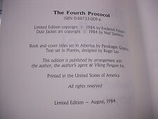 """1984 SIGNED/LIMITED EDITION """"THE FOURTH PROTOCOL"""" BY FREDRICK FORSYTH!"""