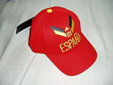 ADIDAS SPAIN ESPANA SPAGNA FOOTBALL CLUB HAT CAP CAPPELLO RED WC BRASIL 2014