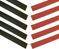 "12.7mm BLACK/RED Heat Shrink Heatshrink Tube Tubing - 2:1 RATIO- 10 x 20cms (8"")"