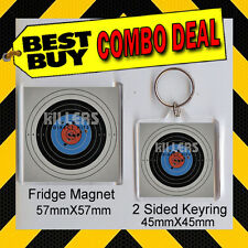 THE KILLERS DIRECT HITS - COMBO DEAL -KEYRING AND FRIDGE MAGNET - CD COVER 1