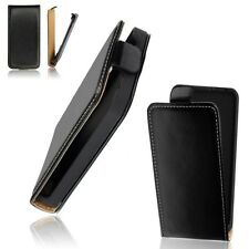 Case Vertical Flip Box Black Style True Genuine Leather Sony-E Xperia Ion LTE