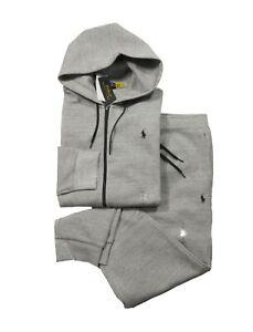 Polo Ralph Lauren Men's Grey Heather Double Knit Full Zip Hoodie & Pant Set