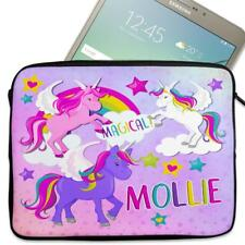 "Personalised Tablet Cover UNICORN Neoprene Sleeve Case Magic 7"" - 10"" KS152"