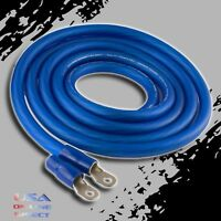 0 Gauge 10ft BLUE Power OFC Wire Strands Copper Hi-Voltage Marine Cable 1/0 AWG
