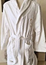 ESSEX HOUSE EXCEL TERRY Robe Bathrobe Unisex XL White Nikko Hotels Old Stock DF