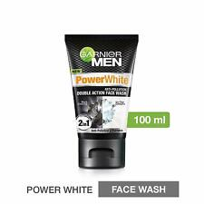 Garnier Men Power White Double Action Face Wash 100gm Cleanses Skin Deeply