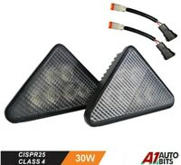 Led Flood 30W Headlights L & R Lights Fit Bobcat Skid Steer Loader A S T Series