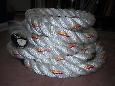 WORKOUT Rope 1 1/2 x 15 Polydacron GYM Climbing with HD Hanging Hardware