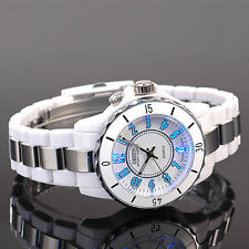 OHSEN White 7 Modes Lights 12 Hours Sport Water Proof Quartz Wrist Watch Gift