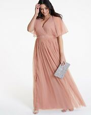 Anaya Kimono sleeve wrap maxi dress Size Uk22