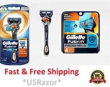 5 Gillette Fusion Proglide Proshield Chill Flexball Razor Blade Cartridge Shaver