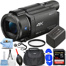 New ListingSony Fdr-Ax53 4K Ultra Hd Handycam Camcorder (Black) + 32Gb + Uv Filter Bundle