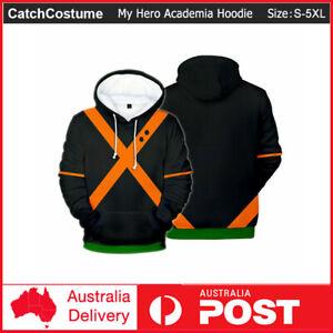 My Hero Academia Hoodie Bakugou Katsuki Jacket Sweatshirt Coat Costume Cosplay