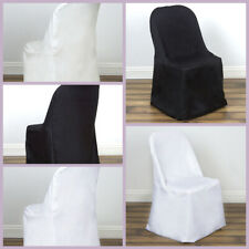 Polyester FOLDING CHAIR COVERS Party Wedding Banquet Event Decorations Supplies