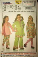Girls Burda 9627 Pattern 1960s Retro Style Dress Tunic Pants UC Size 3-4-5-6-7-8