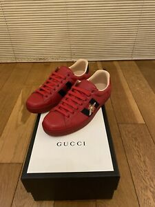 Gucci Ace Trainers Red