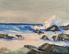 SUMMER SURF FOUR Original Expression Seascape Oil Painting 8x10 060820 KEN