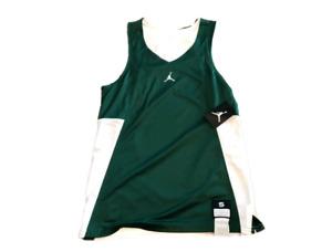 NWT New Jordan Brand Logo Green & White Reversible Basketball Small Tank Top