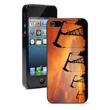 For Apple iPhone X SE 5s 6 6s 7 8 Plus Hard Case Cover 1375 Oil Pump Rig Sunset