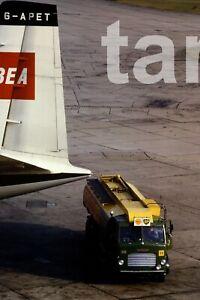 35mm slide aeroplane airplane London airport Heathrow refuller  1960s r186