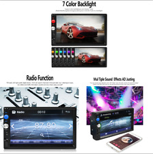 7''Multi-Language 2Din Multimedia Touch Screen HD Bluetooth MP5 Player FM/TF/USB
