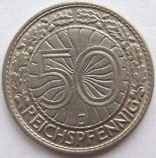 Top! 50 Reichspfennig 1933 J in Very Fine Rare