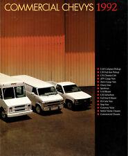 1992 Chevy Commercial Trucks Pickups Vans Suburban Blazer Chassis Sales Brochure