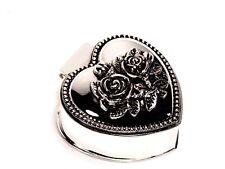 Silver Color Jewellery Storage Trinket Engagement / Ring Metal Box Design #8