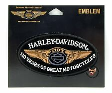 HARLEY DAVIDSON 110TH ANNIVERSARY OVAL VEST  JACKET PATCH - MADE IN USA