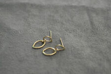 14k yellow gold earrings, handmade, free shipping, elegant appearance