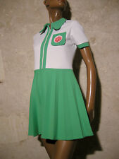 CHIC VINTAGE ROBE POP 1970 TRUE VTG DRESS 70s KLEID 70er ABITO ANNI 70 (36)