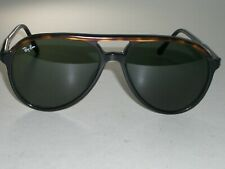 VINTAGE B&L RAY BAN BLACK/TORT TRIM STYLE A/L 1567 G15 TRADITIONALS SUNGLASSES