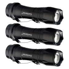 3 Pack Zoomable Tactical LED Flashlight Torch Small Super Bright Handheld Lights