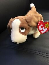 TY Beanie Baby Rare Tracker Basset Hound Retried Dog Brown And White 1997 ERROR